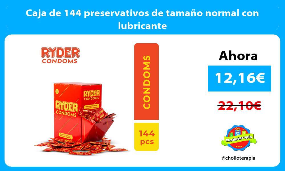Caja de 144 preservativos de tamaño normal con lubricante