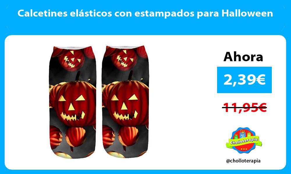 Calcetines elásticos con estampados para Halloween