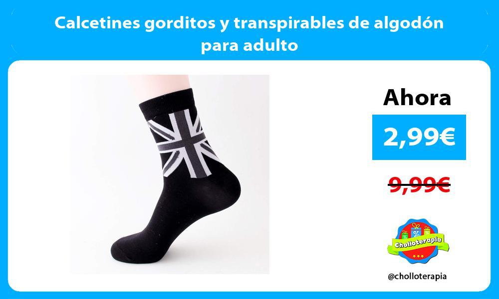 Calcetines gorditos y transpirables de algodón para adulto