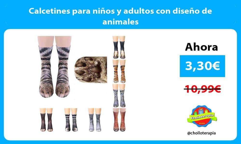 Calcetines para niños y adultos con diseño de animales