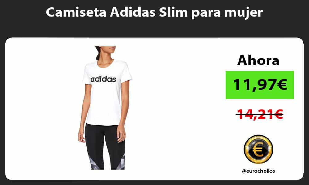 Camiseta Adidas Slim para mujer