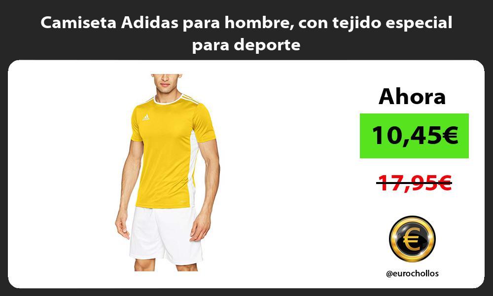 Camiseta Adidas para hombre con tejido especial para deporte