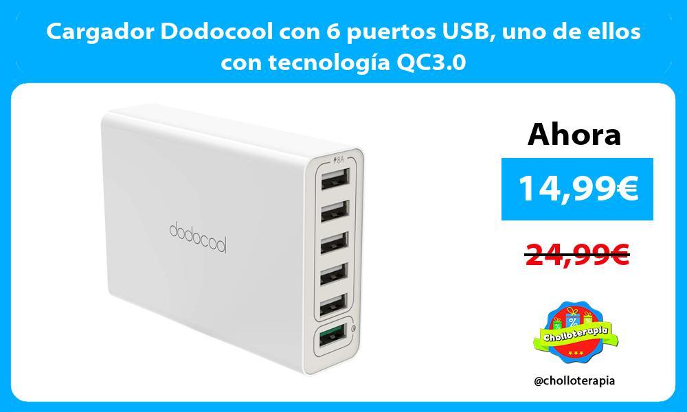 Cargador Dodocool con 6 puertos USB uno de ellos con tecnología QC3.0