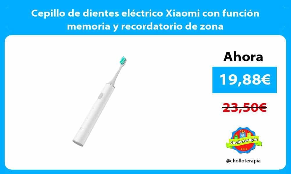 Cepillo de dientes eléctrico Xiaomi con función memoria y recordatorio de zona