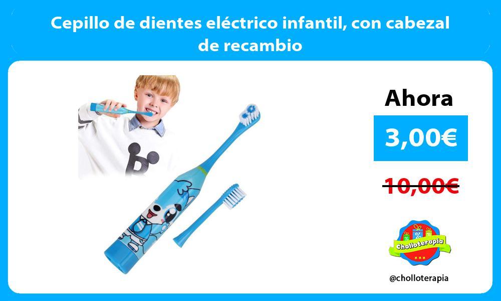 Cepillo de dientes eléctrico infantil con cabezal de recambio