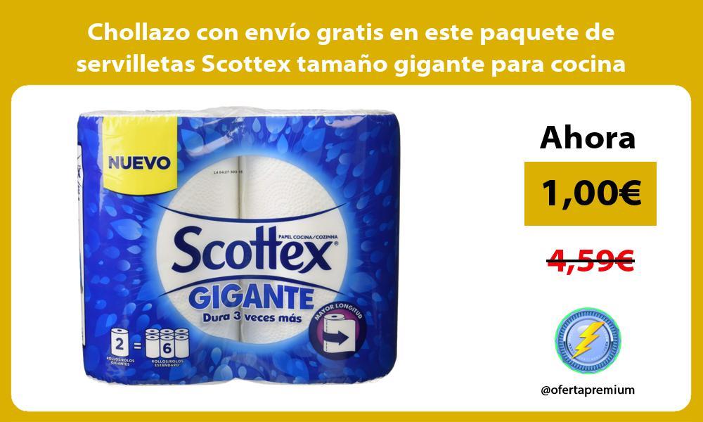 Chollazo con envío gratis en este paquete de servilletas Scottex tamaño gigante para cocina