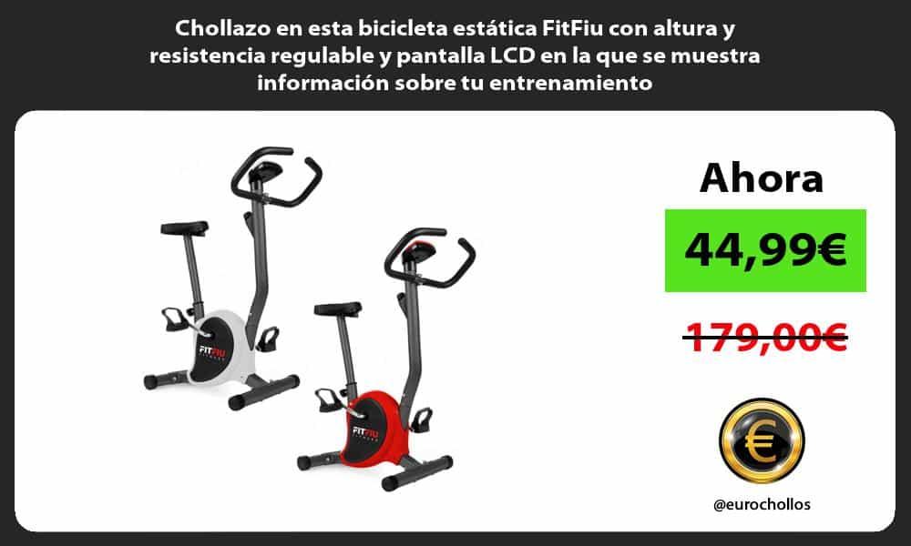 Chollazo en esta bicicleta estática FitFiu con altura y resistencia regulable y pantalla LCD en la que se muestra información sobre tu entrenamiento