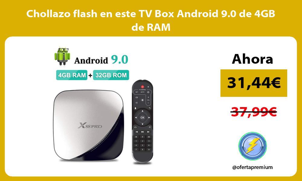 Chollazo flash en este TV Box Android 9.0 de 4GB de RAM