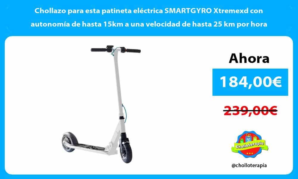 Chollazo para esta patineta eléctrica SMARTGYRO Xtremexd con autonomía de hasta 15km a una velocidad de hasta 25 km por hora