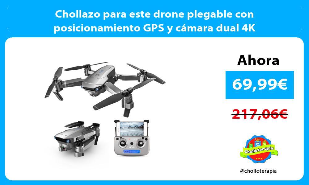 Chollazo para este drone plegable con posicionamiento GPS y cámara dual 4K