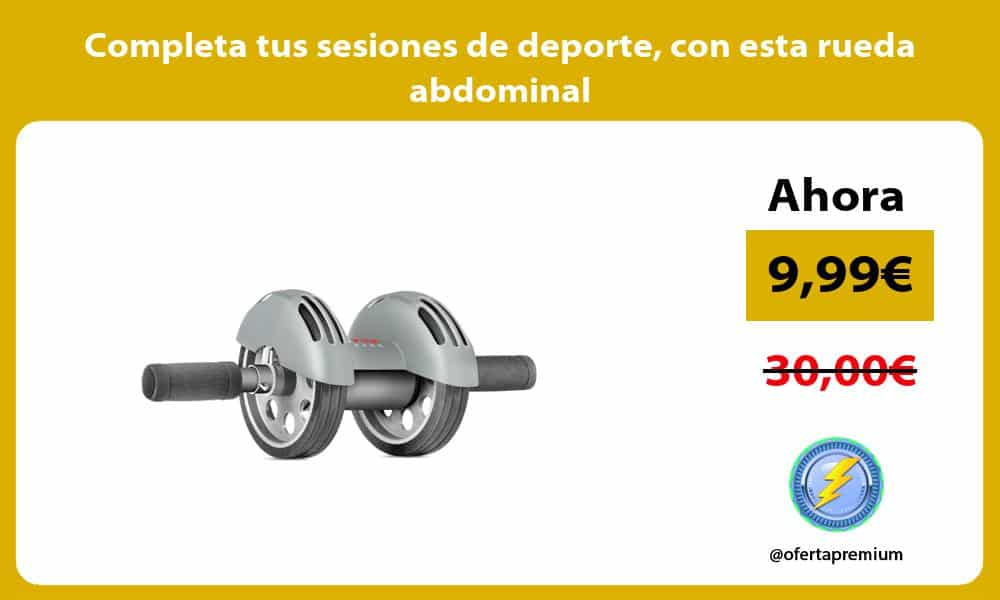 Completa tus sesiones de deporte con esta rueda abdominal