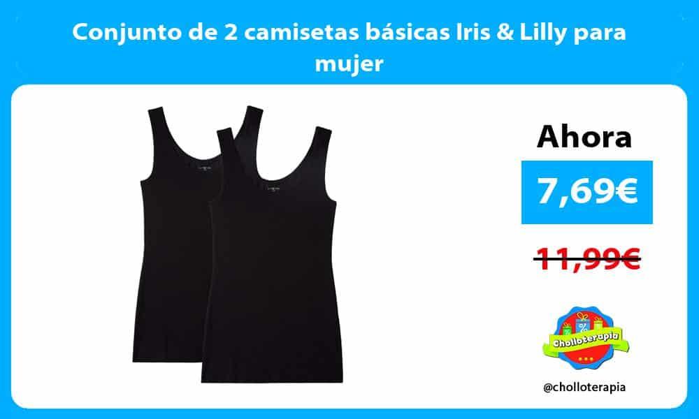 Conjunto de 2 camisetas básicas Iris Lilly para mujer