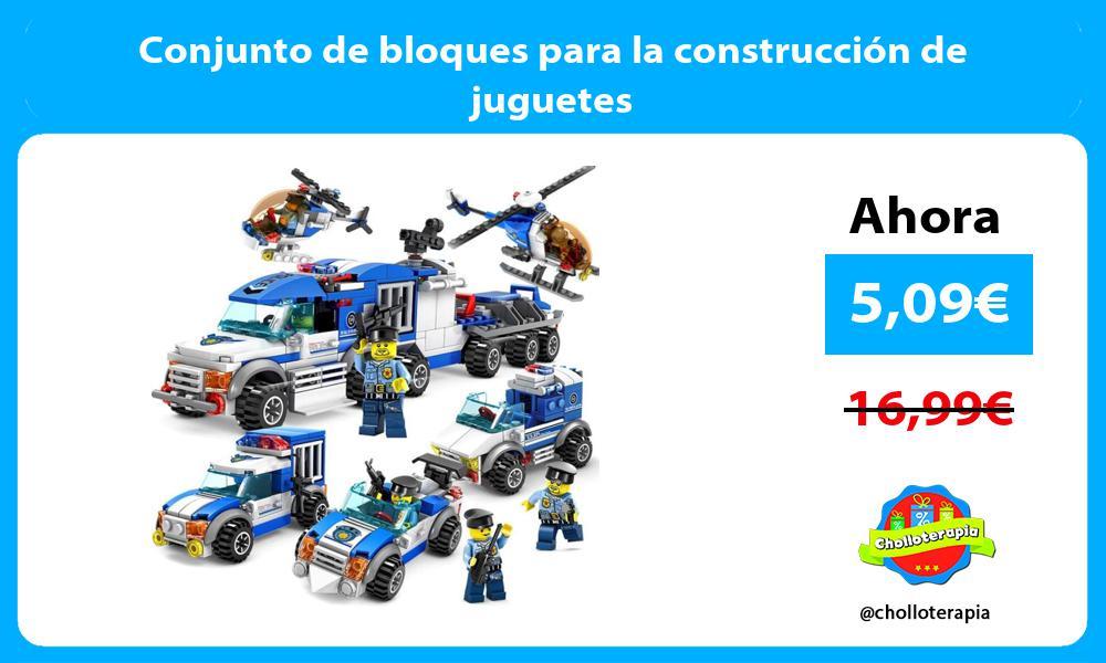 Conjunto de bloques para la construcción de juguetes