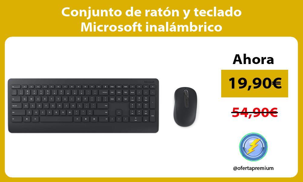 Conjunto de ratón y teclado Microsoft inalámbrico