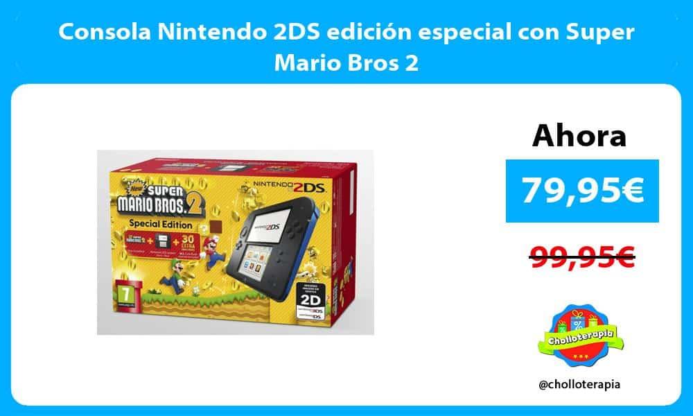 Consola Nintendo 2DS edición especial con Super Mario Bros 2