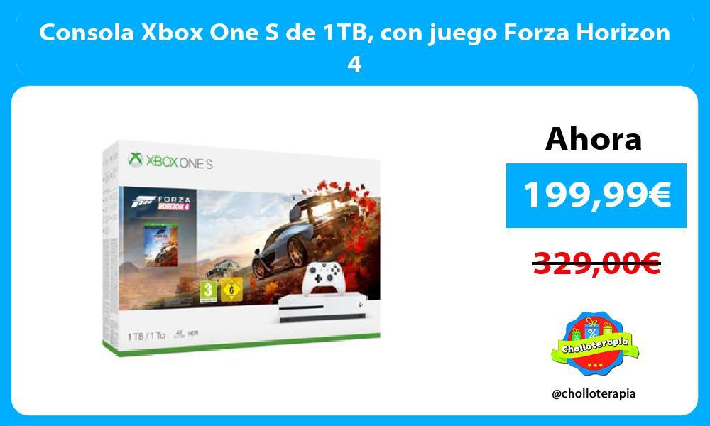 Consola Xbox One S de 1TB con juego Forza Horizon 4
