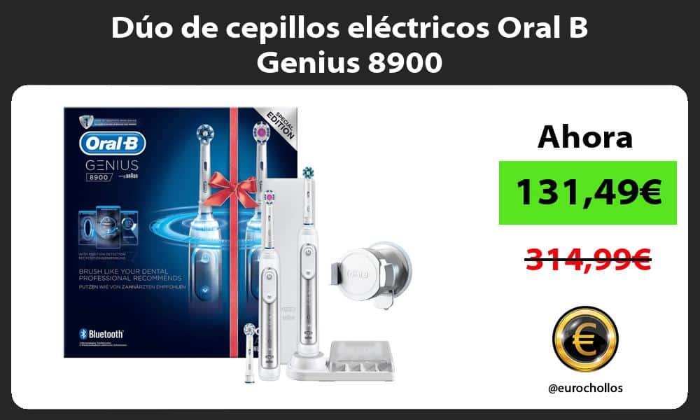 Dúo de cepillos eléctricos Oral B Genius 8900
