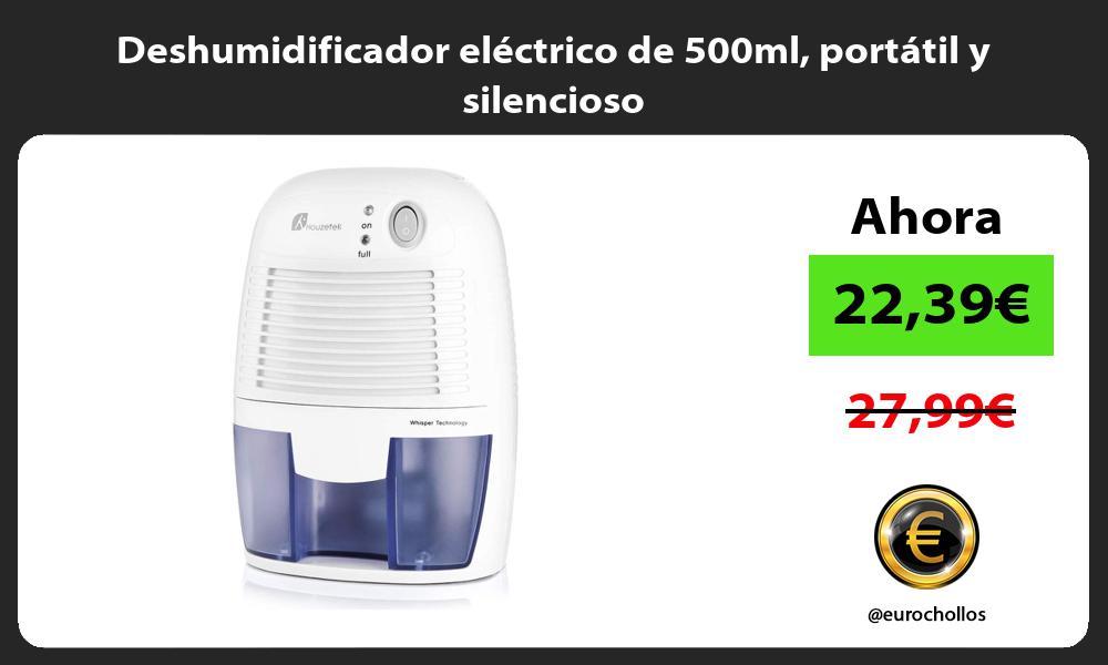 Deshumidificador eléctrico de 500ml portátil y silencioso