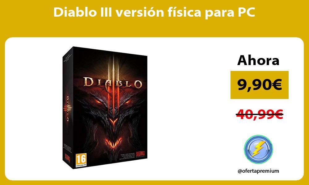 Diablo III versión física para PC