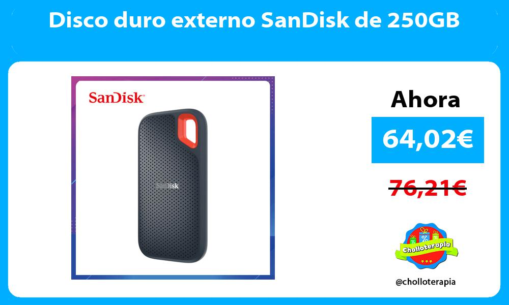 Disco duro externo SanDisk de 250GB