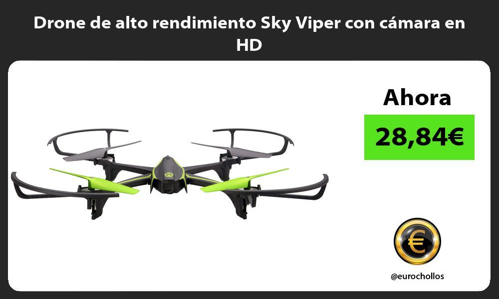 Drone de alto rendimiento Sky Viper con cámara en HD