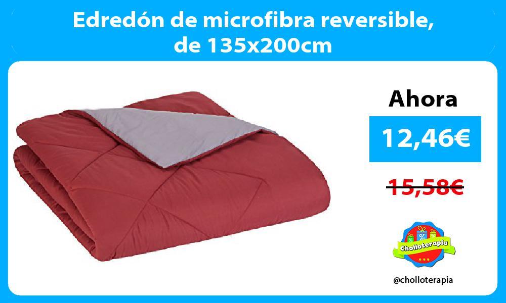 Edredón de microfibra reversible de 135x200cm