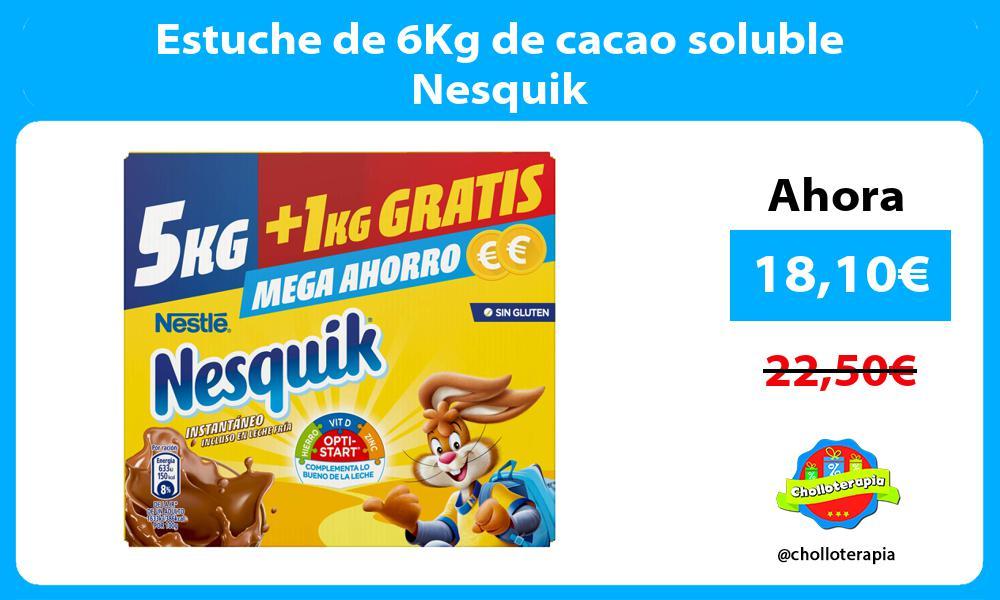 Estuche de 6Kg de cacao soluble Nesquik