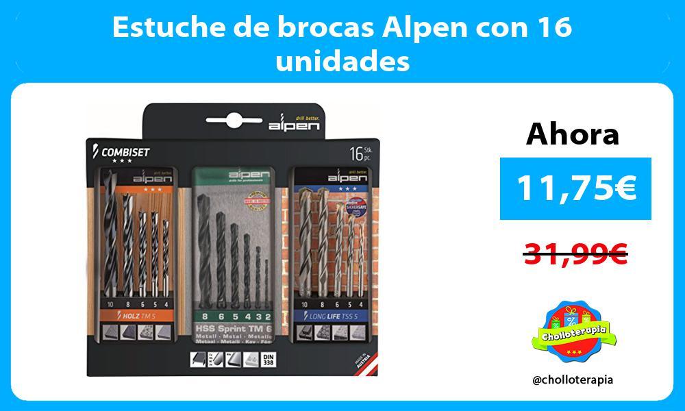 Estuche de brocas Alpen con 16 unidades