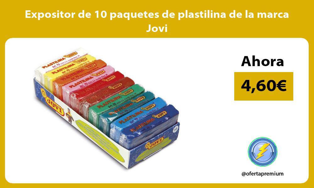 Expositor de 10 paquetes de plastilina de la marca Jovi