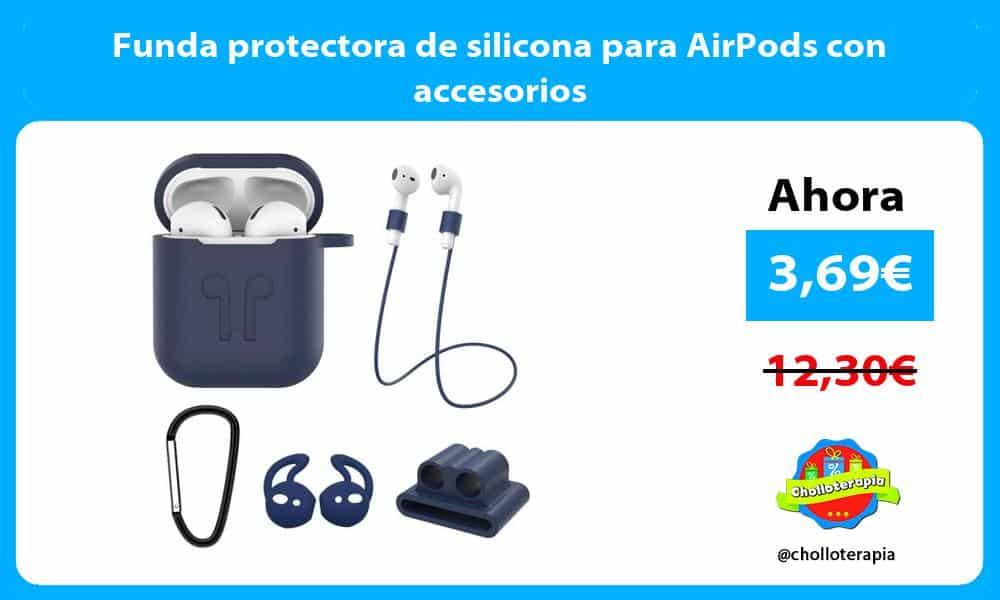 Funda protectora de silicona para AirPods con accesorios