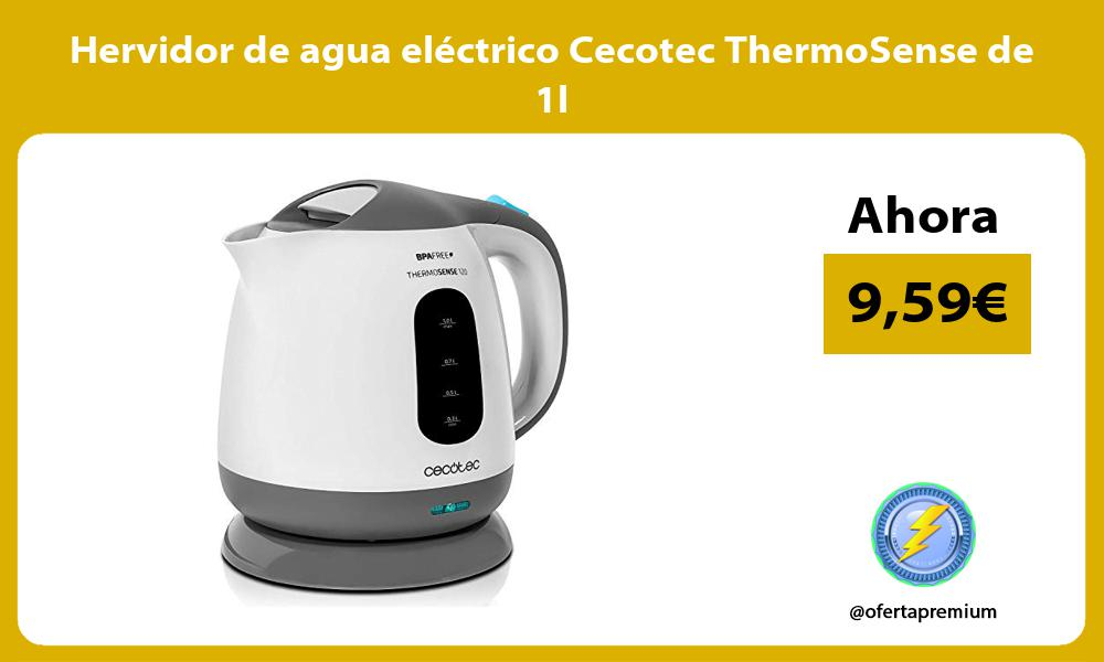 Hervidor de agua eléctrico Cecotec ThermoSense de 1l