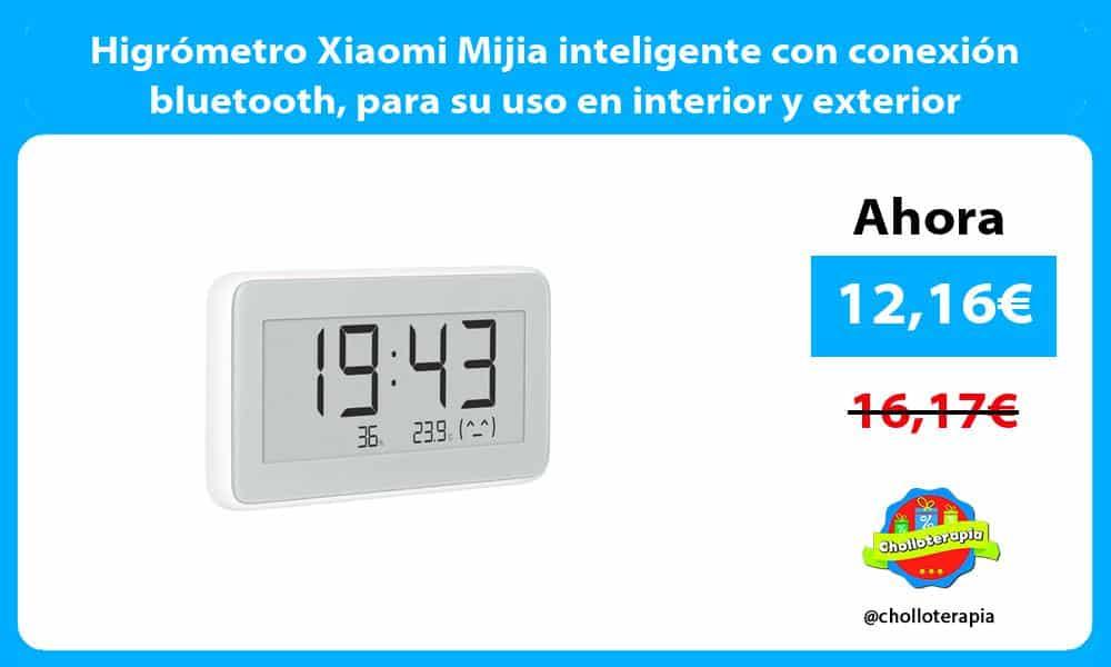 Higrómetro Xiaomi Mijia inteligente con conexión bluetooth para su uso en interior y exterior