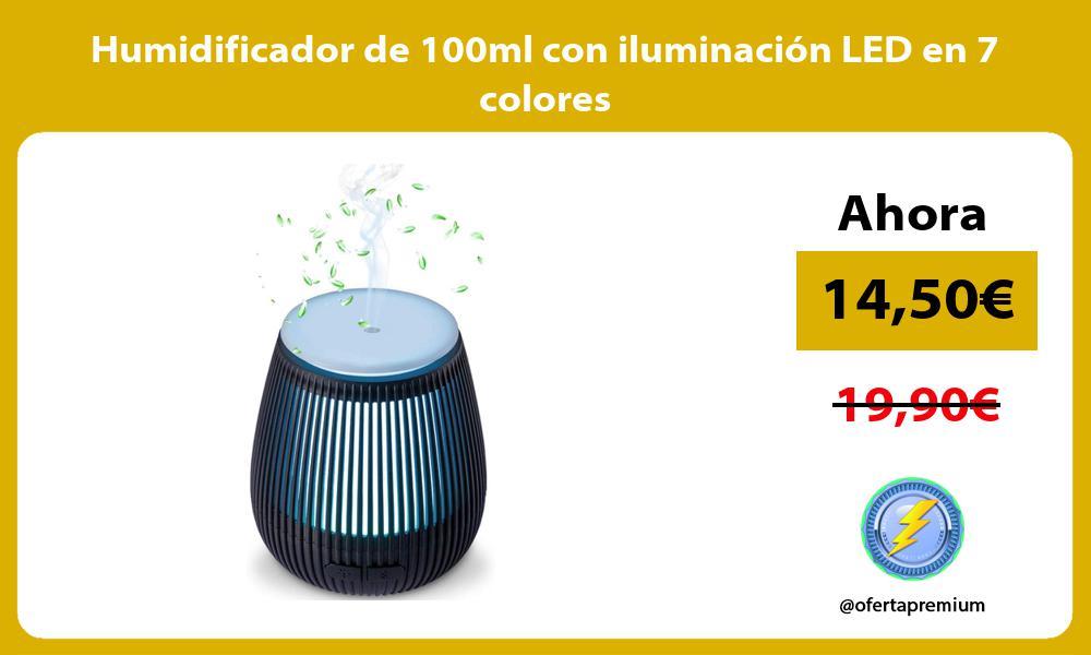 Humidificador de 100ml con iluminación LED en 7 colores
