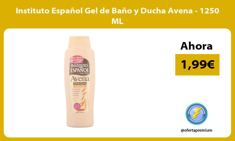 Instituto Español Gel de Baño y Ducha Avena 1250 ML