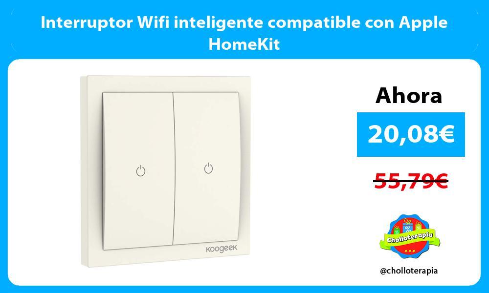 Interruptor Wifi inteligente compatible con Apple HomeKit
