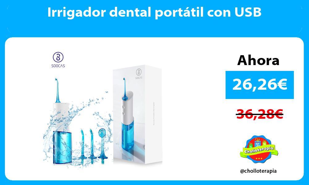 Irrigador dental portátil con USB