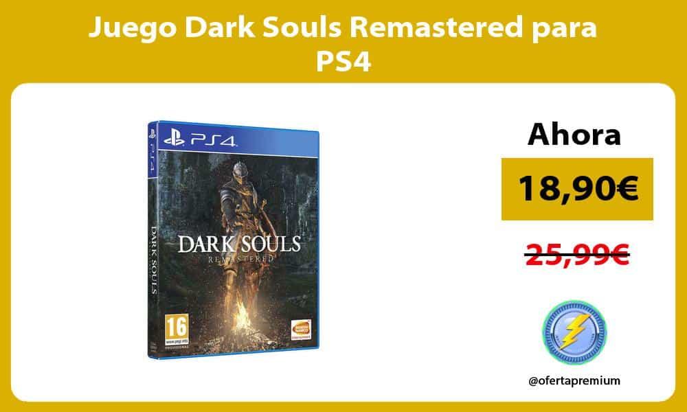 Juego Dark Souls Remastered para PS4