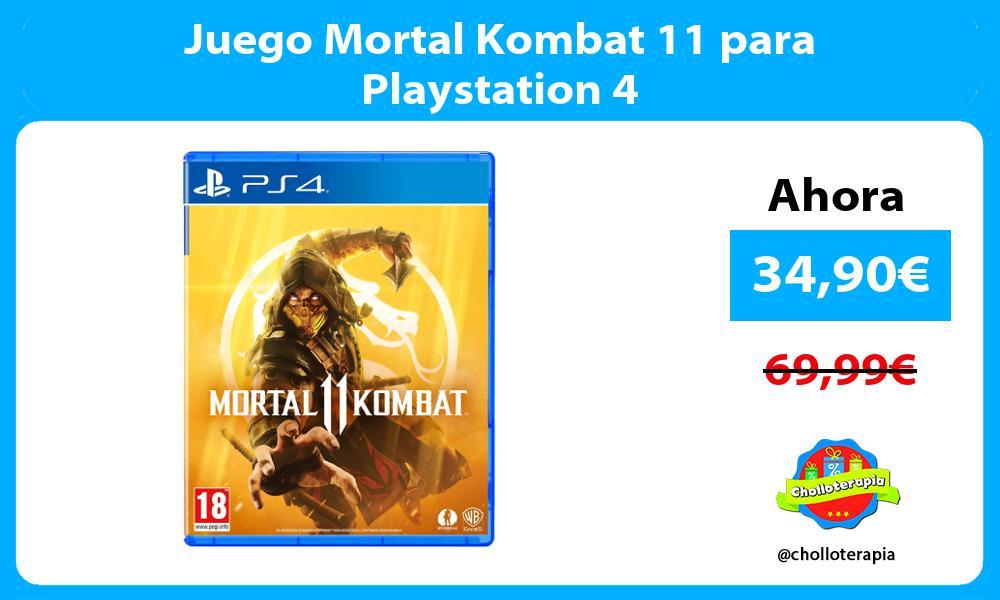 Juego Mortal Kombat 11 para Playstation 4
