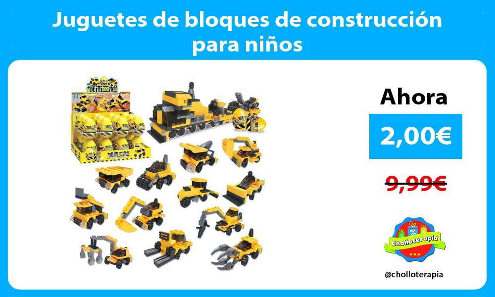 Juguetes de bloques de construcción para niños
