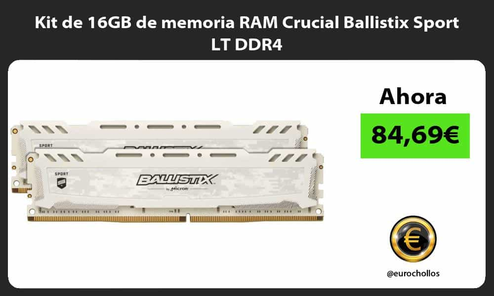 Kit de 16GB de memoria RAM Crucial Ballistix Sport LT DDR4
