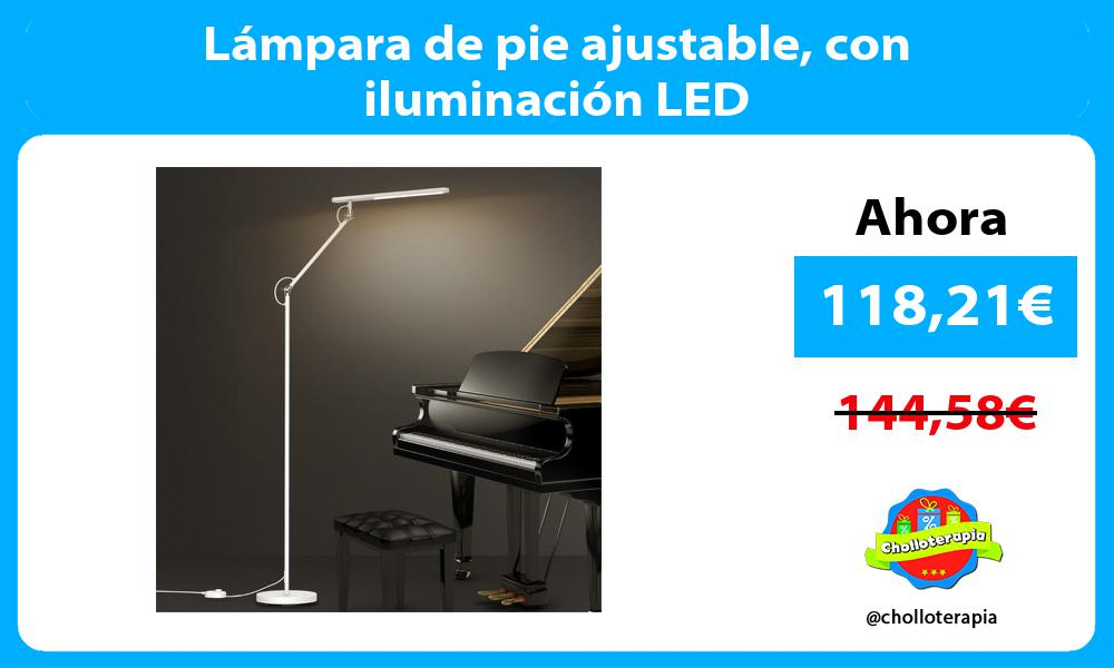 Lámpara de pie ajustable con iluminación LED