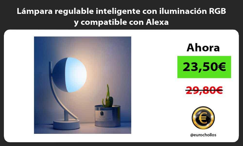 Lámpara regulable inteligente con iluminación RGB y compatible con Alexa