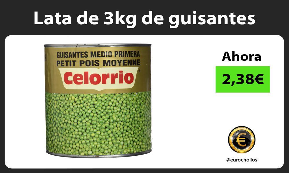 Lata de 3kg de guisantes