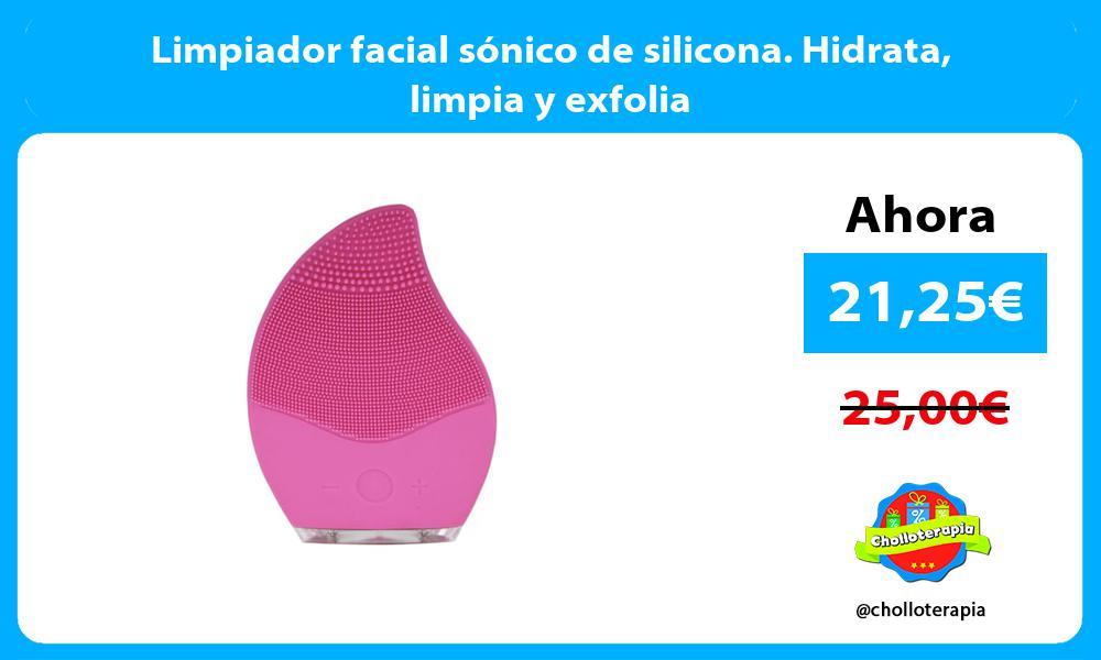 Limpiador facial sónico de silicona. Hidrata limpia y exfolia