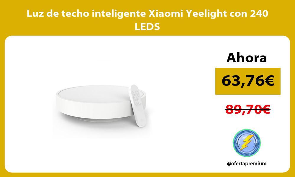 Luz de techo inteligente Xiaomi Yeelight con 240 LEDS
