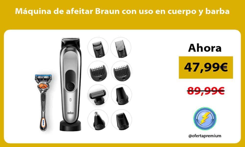 Máquina de afeitar Braun con uso en cuerpo y barba