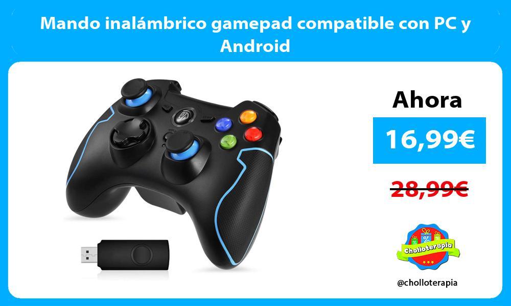 Mando inalámbrico gamepad compatible con PC y Android
