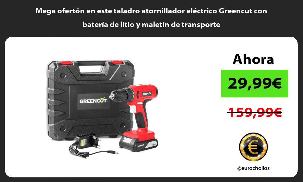 Mega ofertón en este taladro atornillador eléctrico Greencut con batería de litio y maletín de transporte