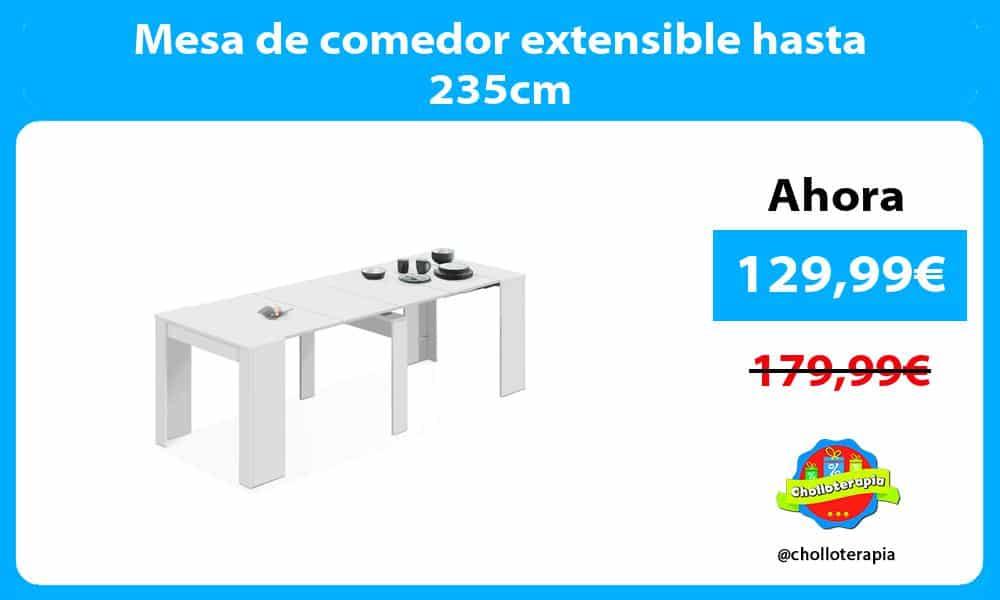Mesa de comedor extensible hasta 235cm