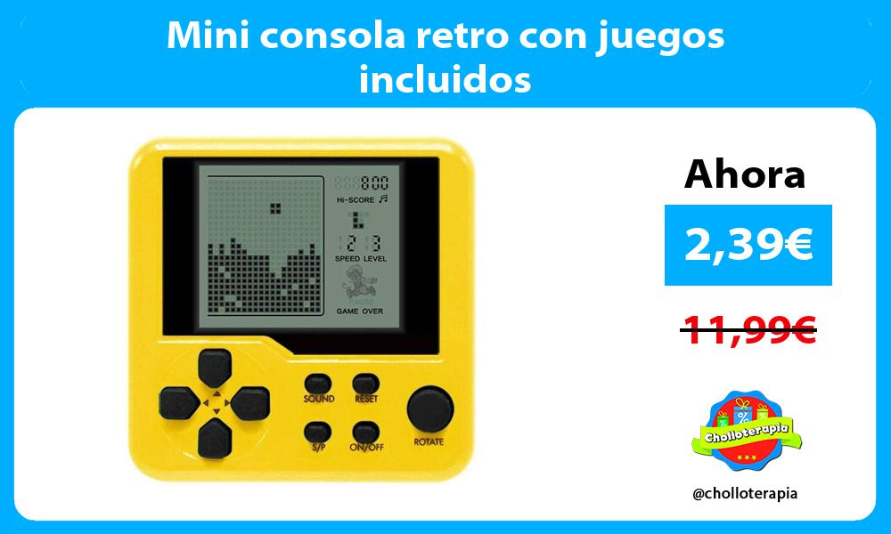Mini consola retro con juegos incluidos